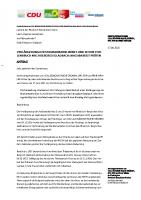 Antrag von CDU GRUENE SPD FDP FW Verlängerung StraBa 3 und 18