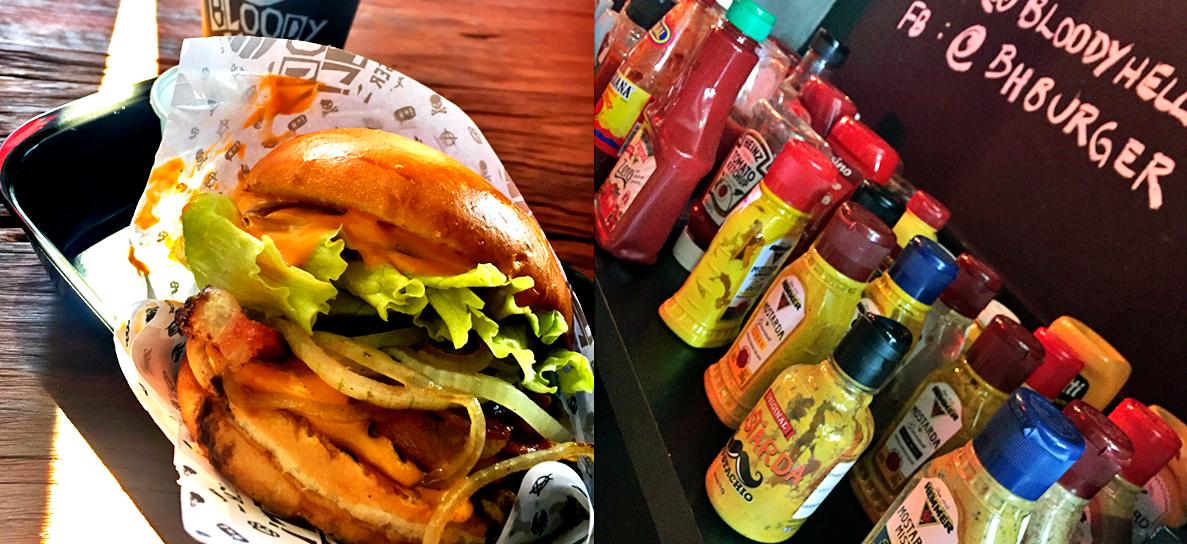 Bloody Hell Burger: um formato rápido com direito a degustação de vários molhos