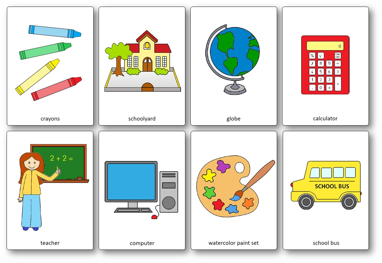 Labelling Worksheet Classroom Objects In
