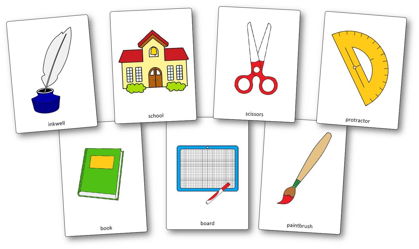 Flashcards Sur Le Materiel De Classe En Anglais