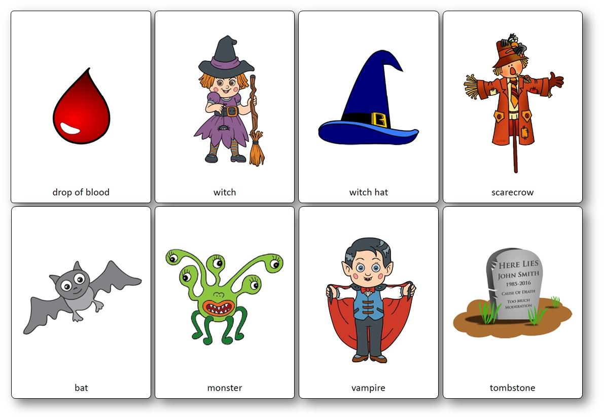 Flashcards Sur Le Theme D Halloween En Anglais