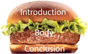 Hamburger Metaphor for a Speech Introduction, Body and Conclusion
