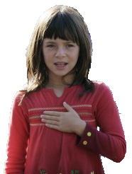 Girl with Hand on Heart