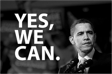 Yes, We Can Poster with Obama