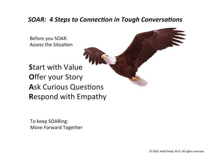 Learn these 4 steps to SOAR through tough conversations