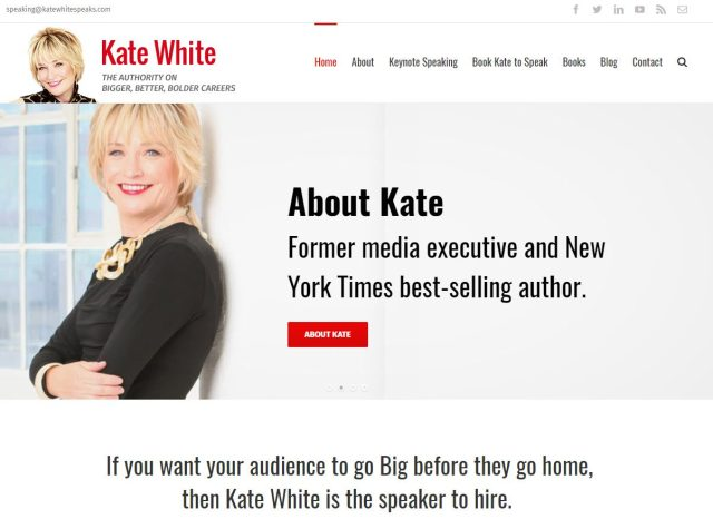 kate white speaker website