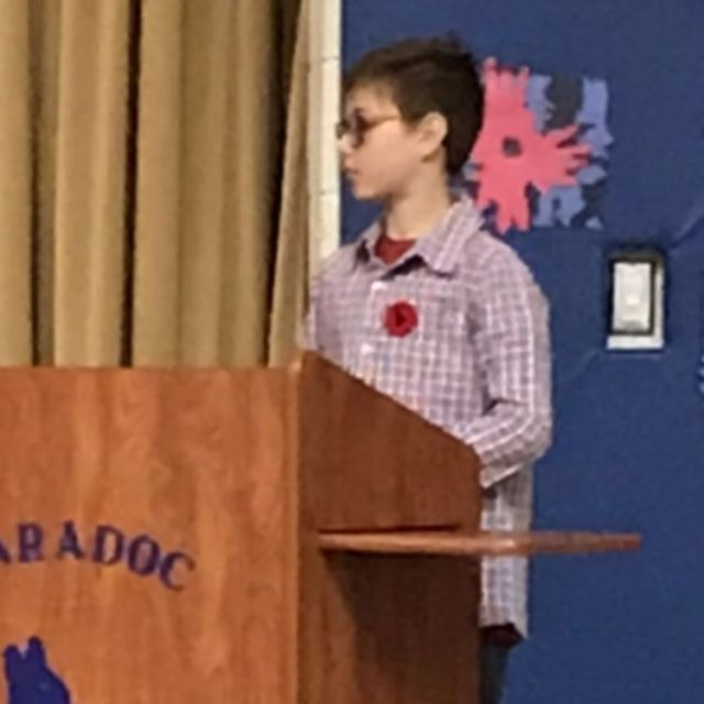 jayden's first public speech