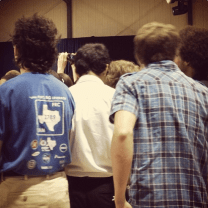 These high school students were so excited to be there. Kept jumping and high-fiving.