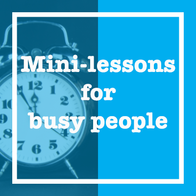 mini-lessons