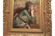 Meditation, Alfred Stevens. note the Japanese patterns on fabrics