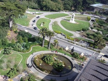 A view of the Music Concourse from the Tower Deck of the de Young Museum in SF, another favorite place of mine,