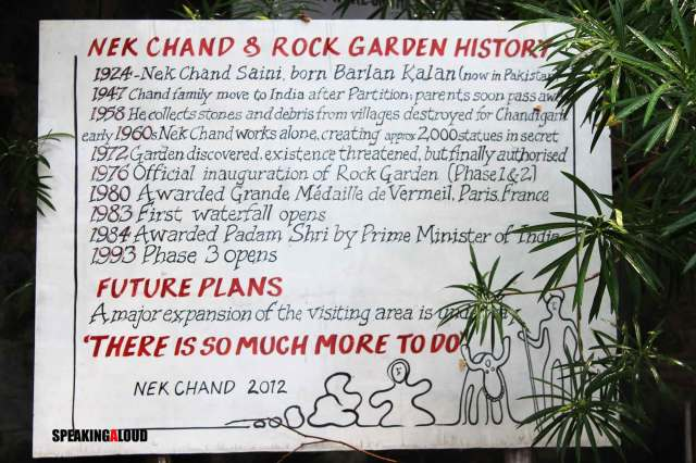 history of rock garden chandigarh