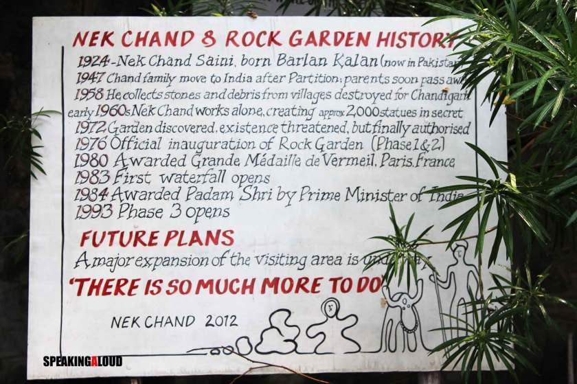 history of rock garden chandigarh