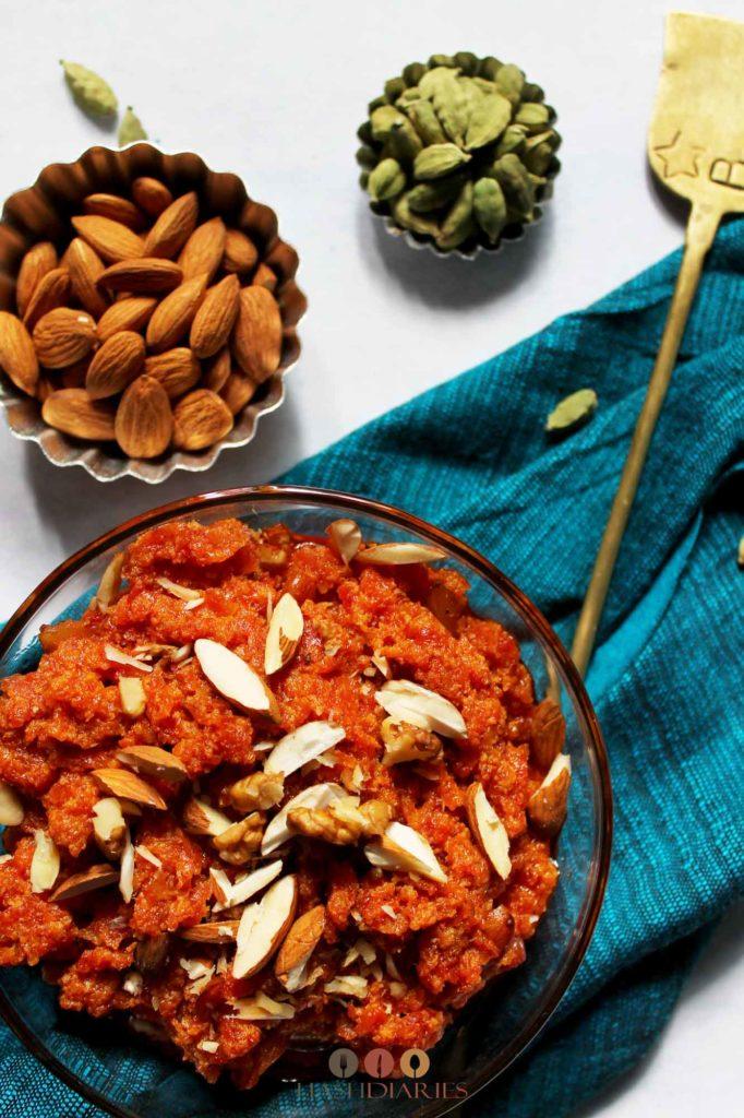 gajar ka halwa recipe without khoya