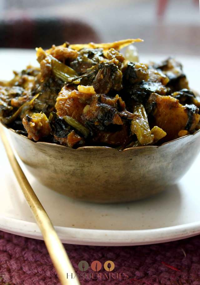 Macher Matha Diye Pui Shaak Recipe