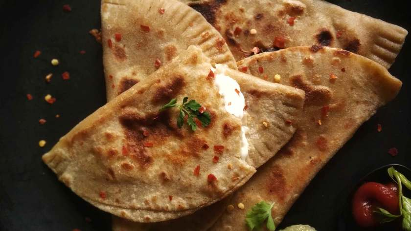 Cheese Paratha recipe for tiffin breakfast kid's lunchbox