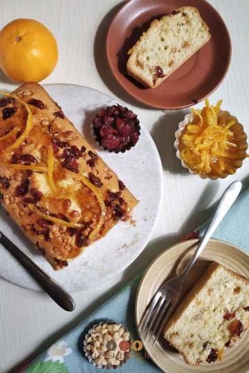 Christmas Orange Cranberry Loaf Cake Recipe