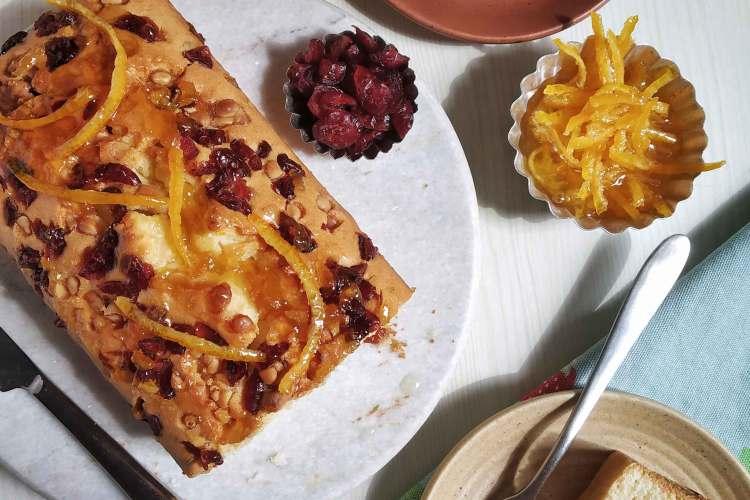 Christmas Orange Cranberry Loaf Cake Recipe