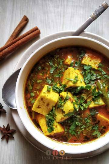 Vegetarian Quick Paneer Curry Recipe
