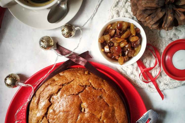 Christmas Eggless Cake Recipe