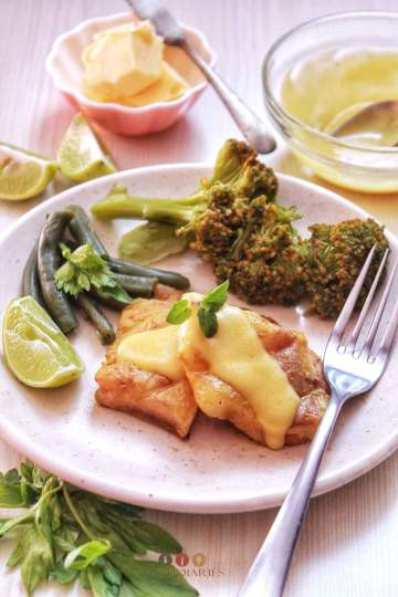 Grilled Fish with Lemon Butter Sauce recipe