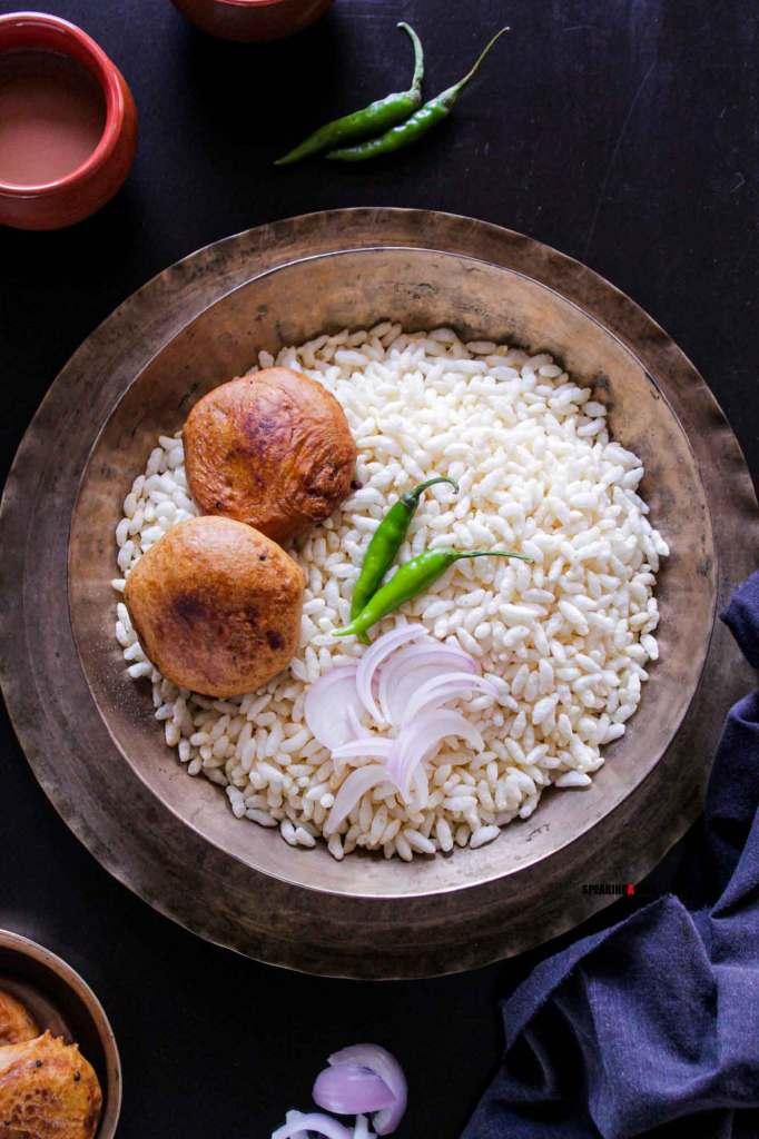 Aloo Chop with muri