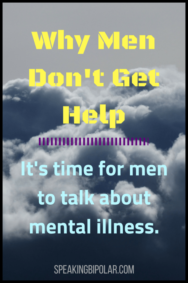 Men are frequently unwilling to discuss mental health. Why? How can we change that? | #MentalHealthAwareness #Men #ChronicIllness