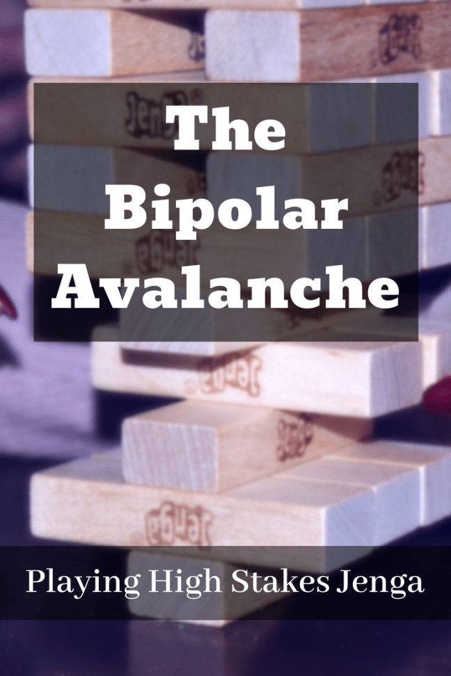 Learning to live with Bipolar Disorder is very much like playing Jenga. This post considers what one survivor does to keep his life balanced. #Bipolar #PatientStory #LivingSuccessfully
