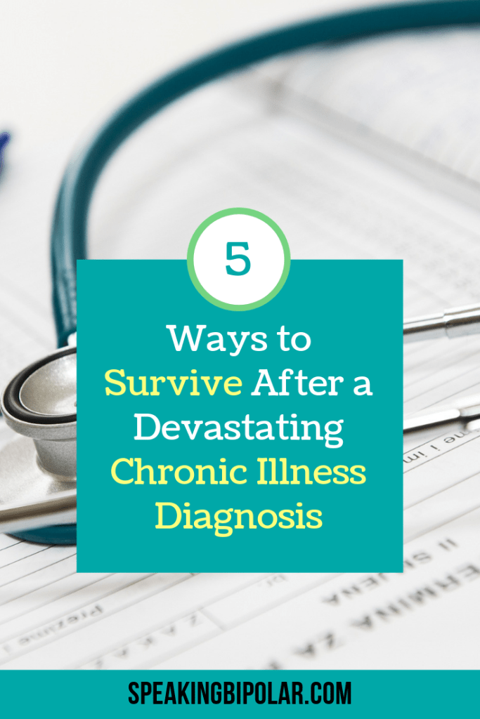 You can survive a chronic illness diagnosis. Read this post about five tips that will help you keep going and support you to live your best life. | #chronicillness #tips #support