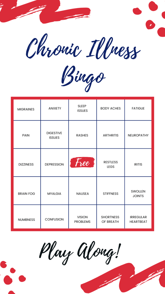 When you have a chronic illness you have to look for humor everywhere you can. Here's how you can relate it to bingo. | #mentalillness #spoonies #chronicillness