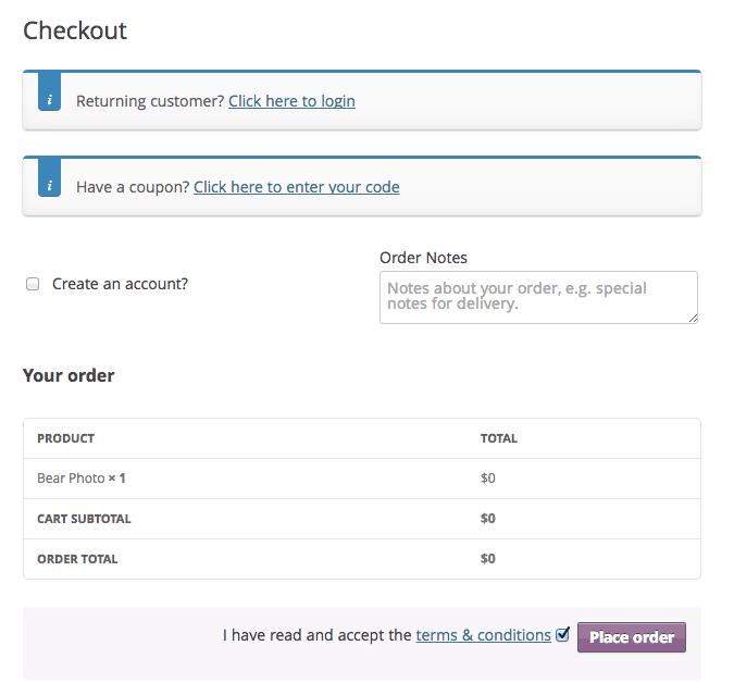 remove billing address fields