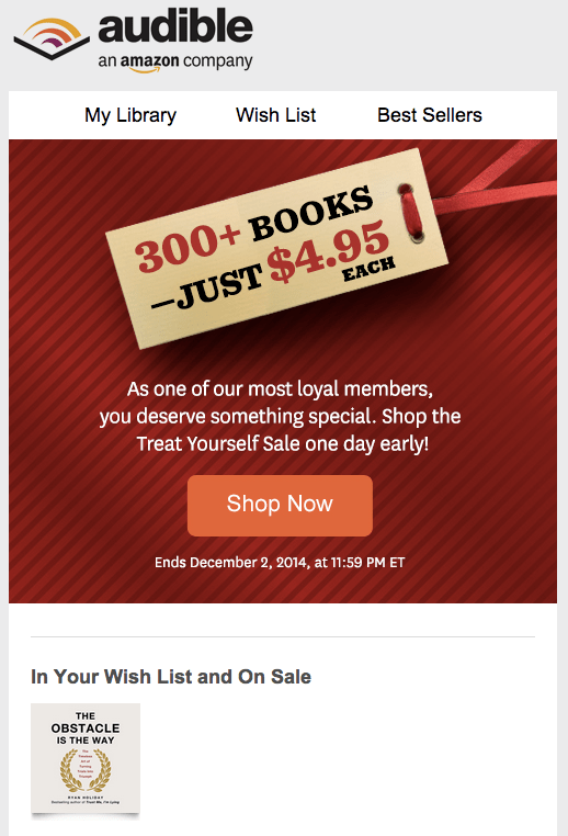 Wishlists Are Done Right on Audible