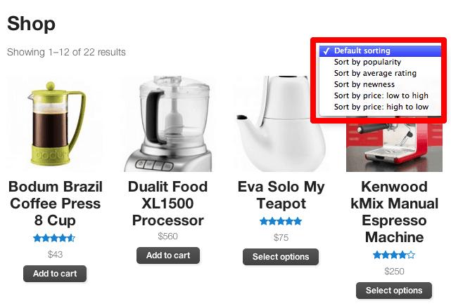 WooCommerce Default Sorting