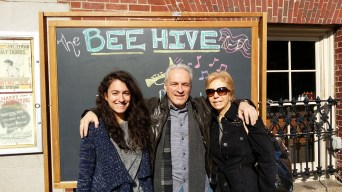 Brunch with my father and stepmom.