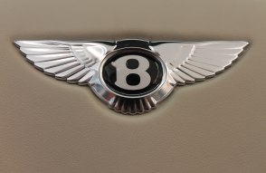 In the smallest of details, the metal of the logo on the steering wheel shines.