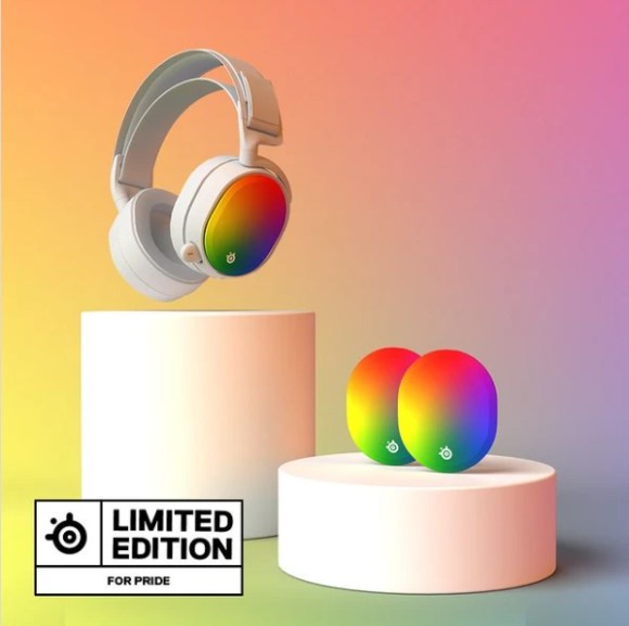 limited edition pride month speaker plates by steelseries