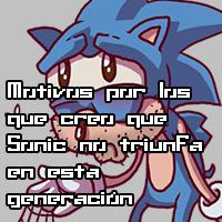 Motivos por los que creo que Sonic no triunfa en esta generación