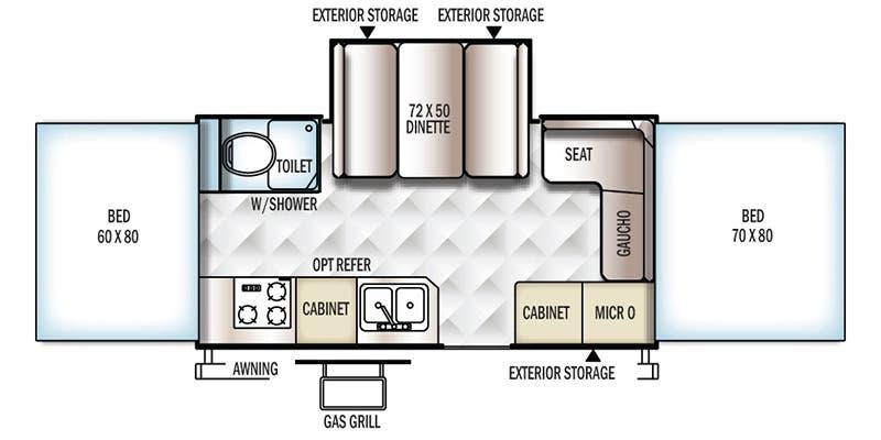 2003 Rockwood Camper 2 0floor Plans