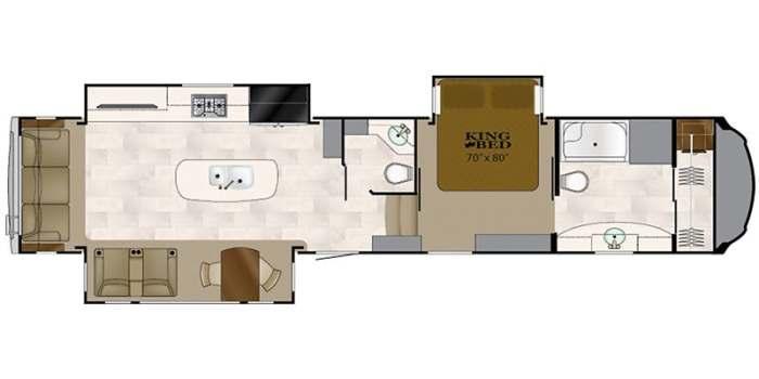 Find Specs for 2018 Heartland  - Bighorn <br>Floorplan: BH 3870 FB (Fifth Wheel)
