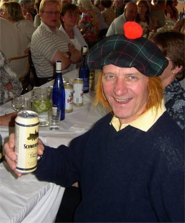 På lördagskvällen fick vi celebert besök av en skotte från Skottlandsträffen !