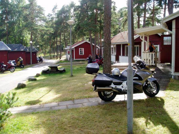 Inflyttning i stugorna vid Örnäs Camping.