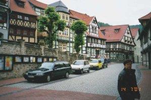 Flanör bland vackra husfasader i Stolberg. Bilden insänd av Olle Anselius