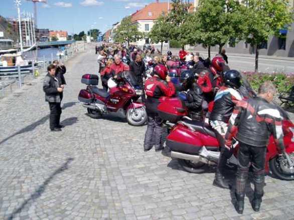 Framme i Karlshamn vid lunchtid.
