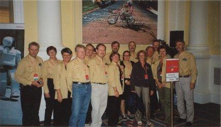 Uppställning av svenska delegationen inför premiärvisningen av nya Pannan