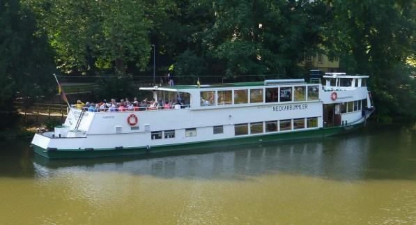 Vi hade bokat en tur med Neckarsbummler för färd norrut på Neckar