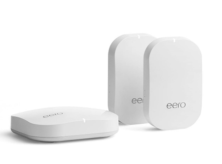 Eero Pro and two Beacon