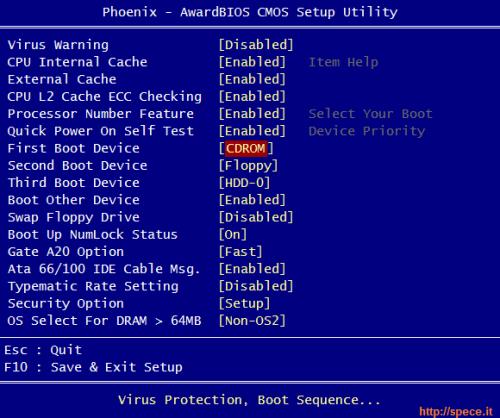 Phoenix BIOS boot sequence 2