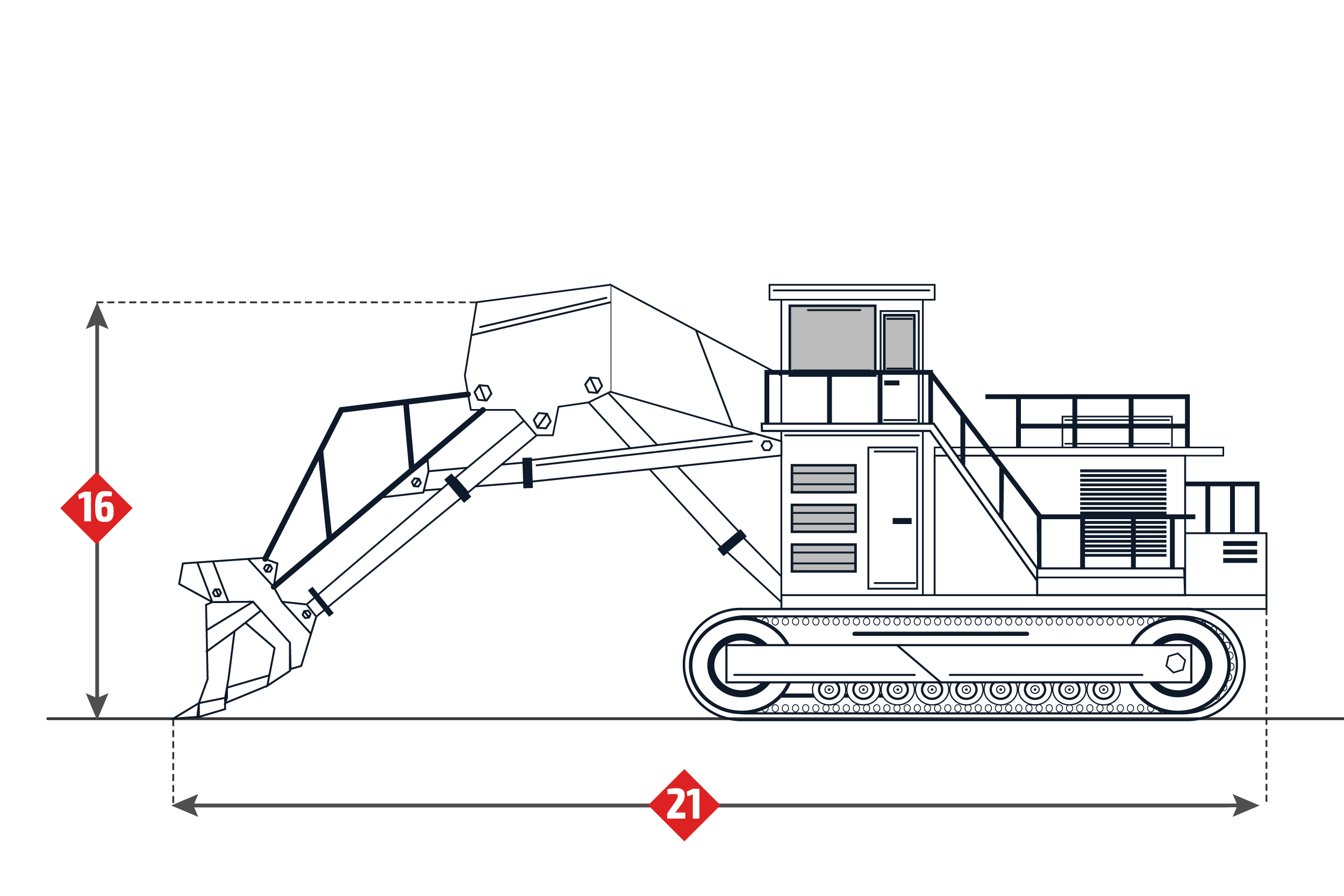 Terex Rh340 Specifications Mining Excavator