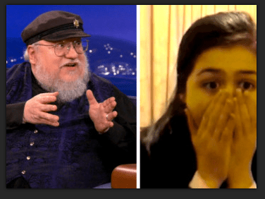 GRRM reacts to Show watchers reacting to Rains of Castemere.  Thanks TeamCoCo.com