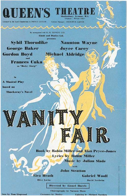 Cover of Vanity Fair theatre flyer